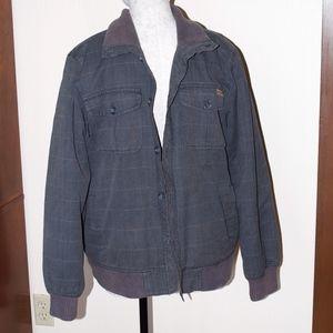 Billabong Mens Gray Fur Lined Jacket Coat L